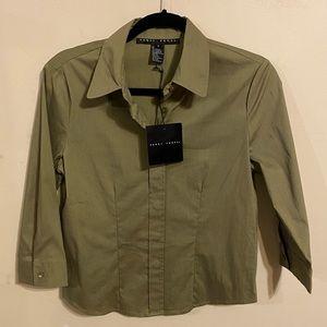 NWT Army Green Yansi Fugel Dress Shirt